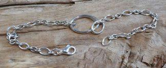 Bracelet mobile, forme ovale, Argent 925