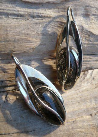 Boucles d'oreille en Argent 925 ovale et Tourmaline