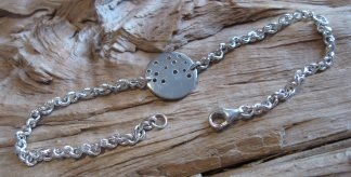 Bracelet Argent 925 rond, percé de trous de tailles différentes