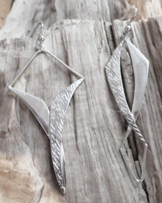 Boucles d'oreille Argent 925 formes particulières