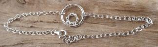 Bracelet Argent 925 forme ronde avec des boules d'argent en rond à l'intérieur